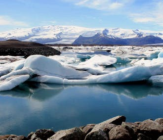 Tagestour zur Gletscherlagune Jökulsárlón | inkl. Zodiac-Bootsfahrt