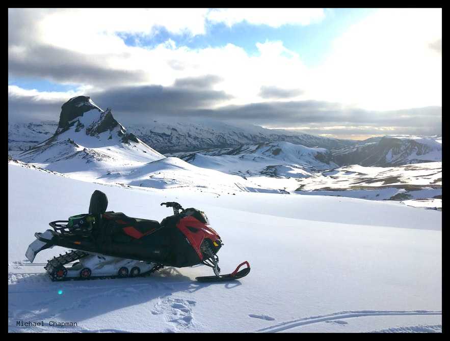 Þórsmörk is one of the best places in the country for snowmobiling.