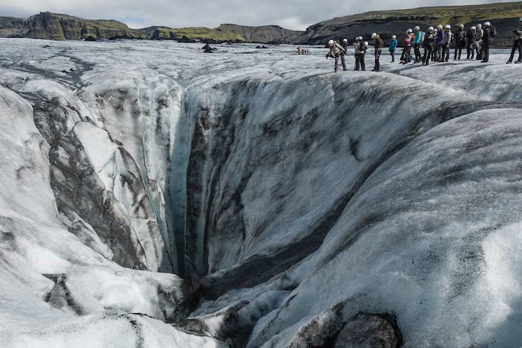 Sólheimajökull is one of the best glaciers to try hiking in the whole of Iceland.
