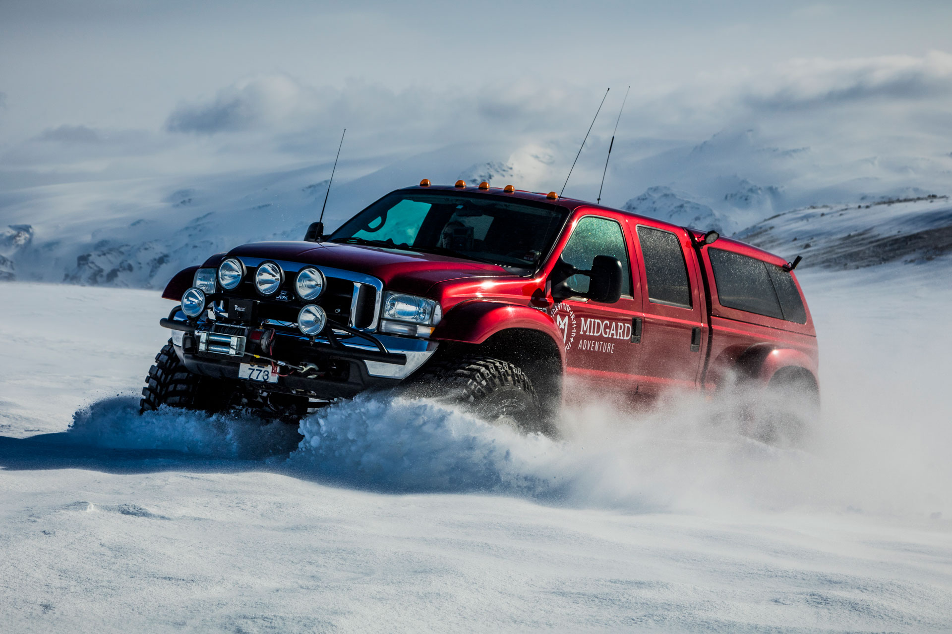 Super Jeeps are the only vehicle capable of traversing Þórsmörk Valley.