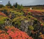 Il parco nazionale di Thingvellir diventa ancora più bello in autunno quando è colorato.