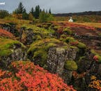 Þingvellir National Park becomes even more beautiful in autumn when it dons its colourful attire.