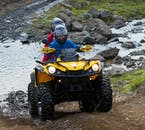 ATVs can either be ridden as a solo rider, or with a partner.