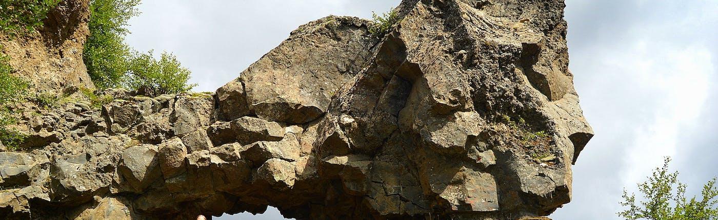 A lava arch at Gjáin