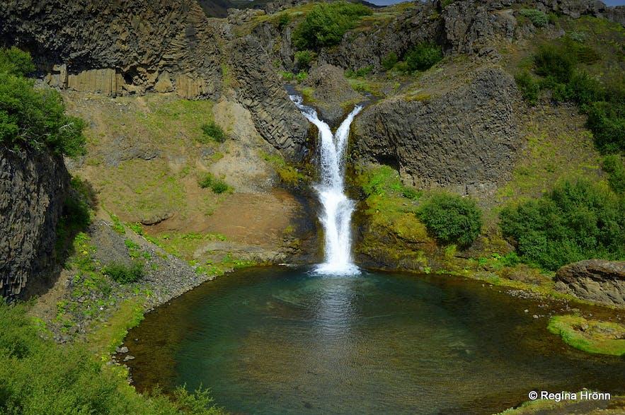 Gjáin in Þjórsárdalur valley