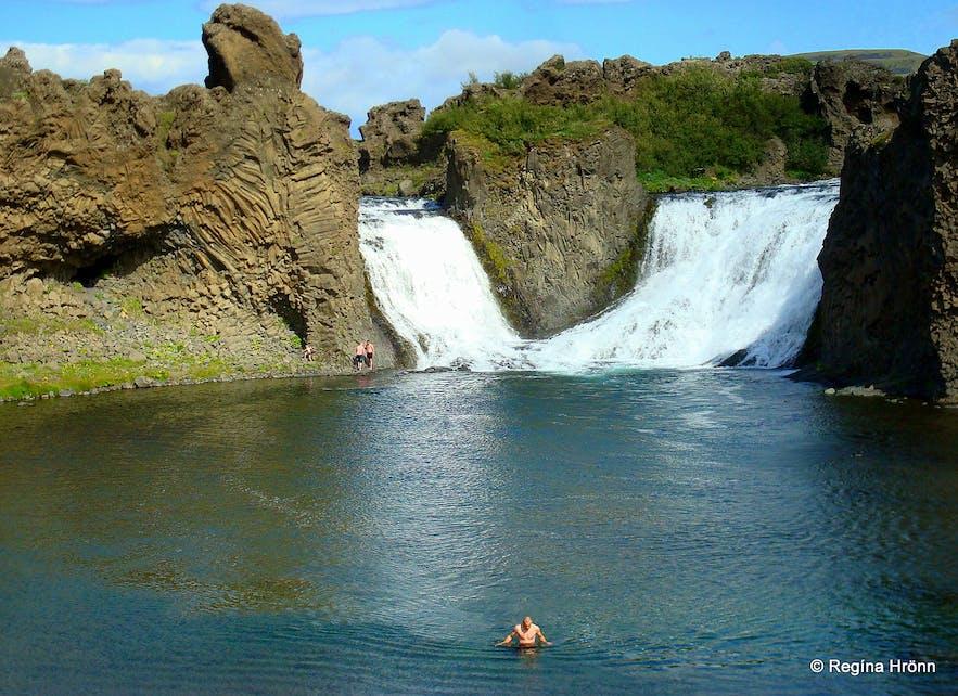 Háifoss, Granni& Hjálparfoss - the beautiful Waterfalls in Fossá River in Iceland