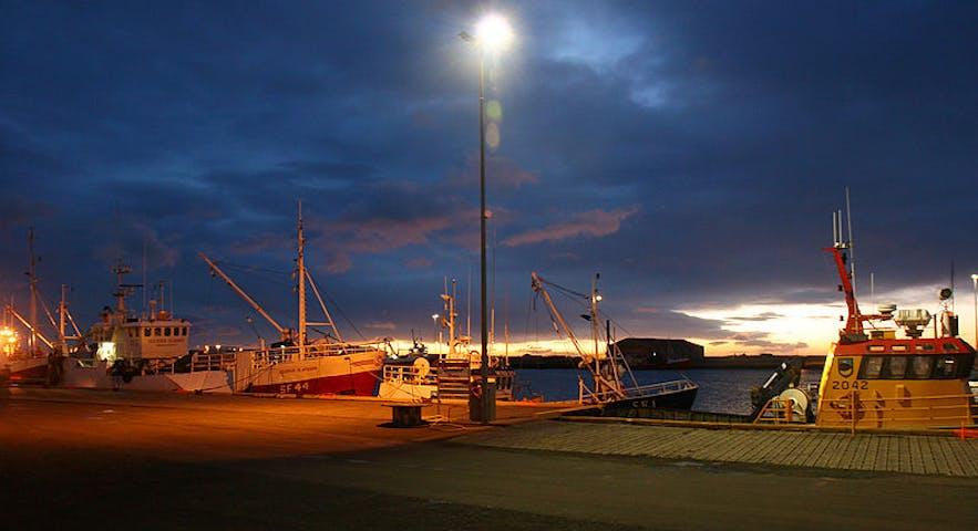 Havnen Höfn í Hornafirði.