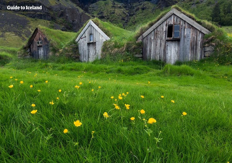 アイスランドの伝統的な家