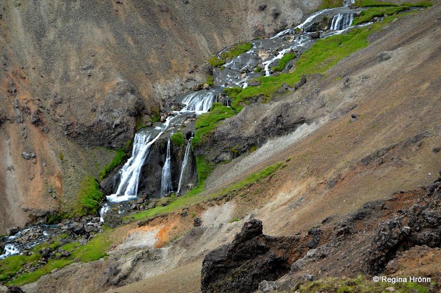Djúpagil canyon and Djúpagilsfoss waterfall