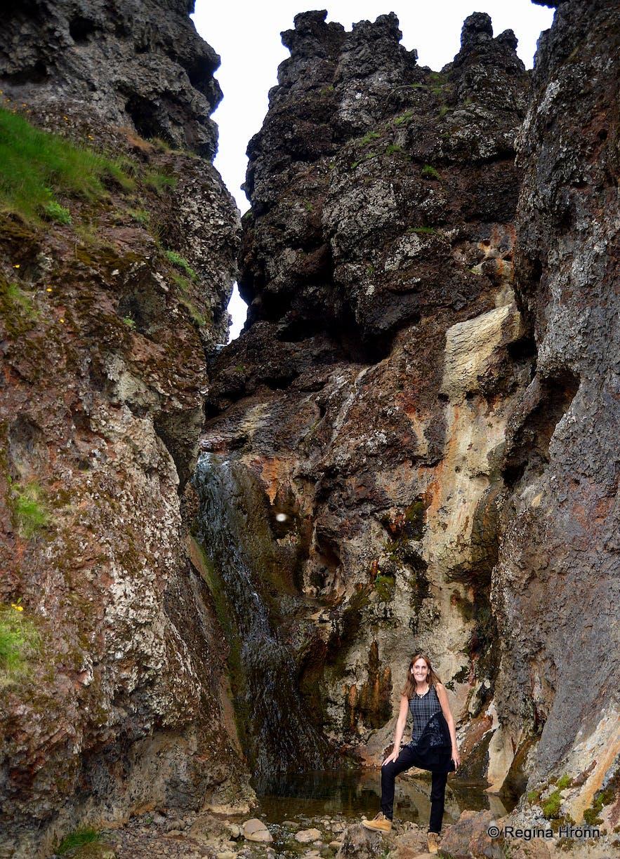 Regína in Klambragil gorge