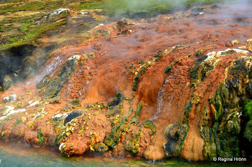 Beautiful geothermal colours in Reykjadalur