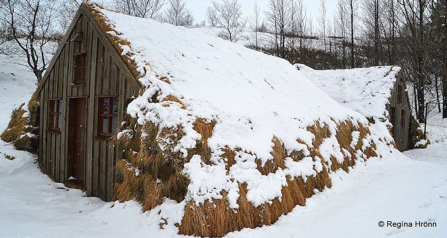 Turf outhouse at Dalshöfði farm in South-Iceland