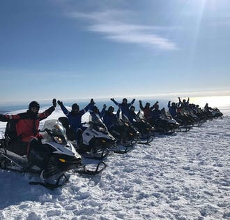Motoneige sur le glacier Vatnajökull | Le plus large glacier d'Europe