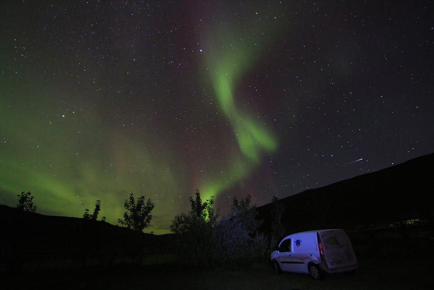 Camp under the Northern Lights
