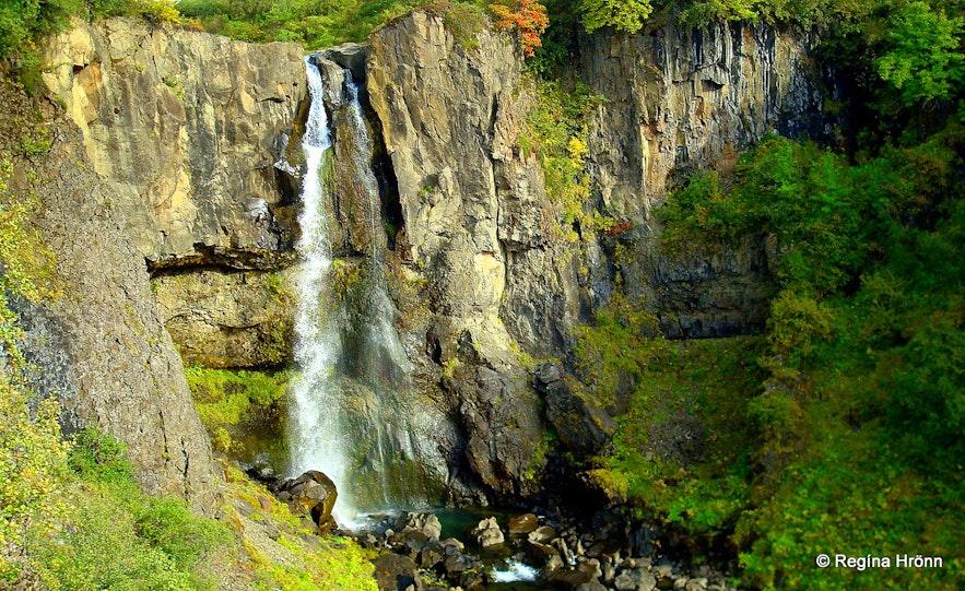 Hundafoss waterfall in Skaftafell, south Iceland