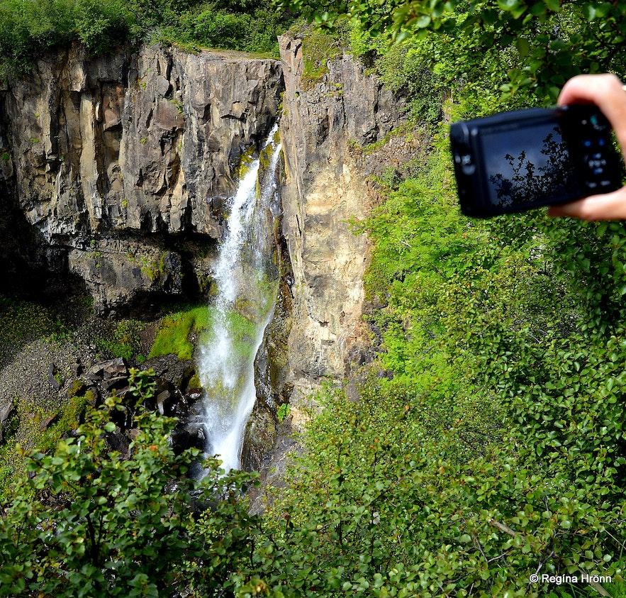 Hundafoss waterfalls in Skaftafell