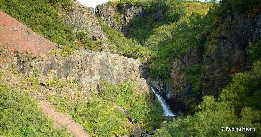 Þjófafoss waterfalli in Skaftafell