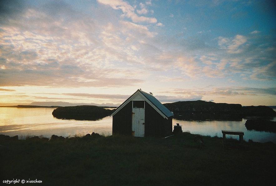冰岛Flatey小岛日落