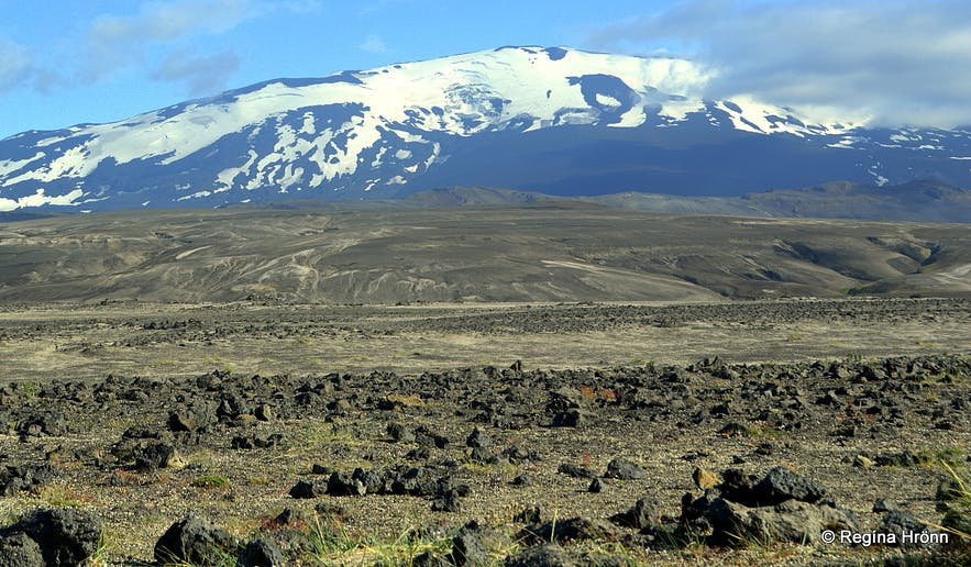 Mt. Hekla volcano in south Iceland