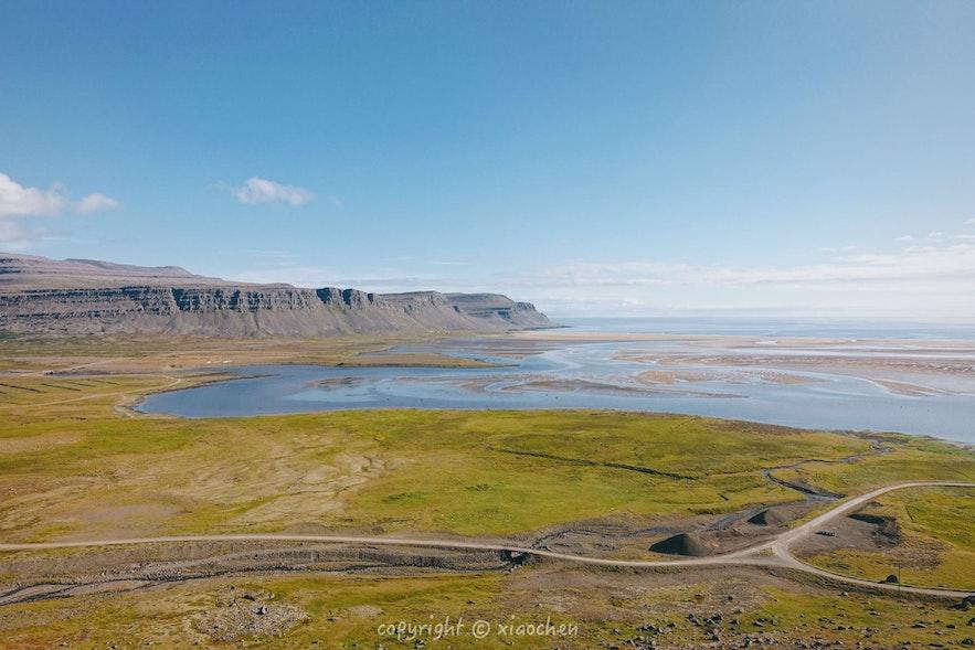 冰岛西峡湾红沙滩的美很难通过照片体现
