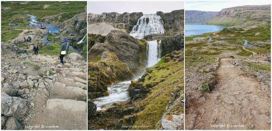 冰岛西峡湾丁坚地瀑布-Dynjandi-需要穿着登山鞋
