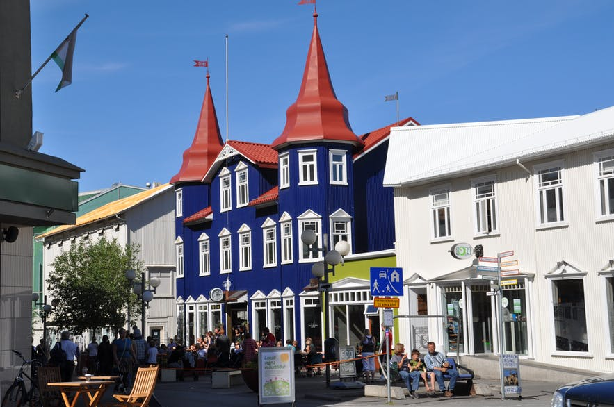 Akureyri is known for its quirky architecture. Take this picture of a coffee shop, for instance.