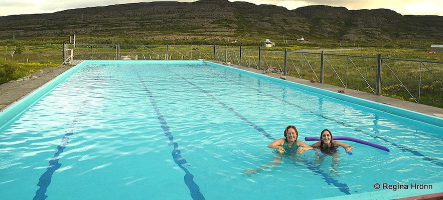 Swimming pool at Hotel Laugarhóll Bjarnarfjörður Westfjords
