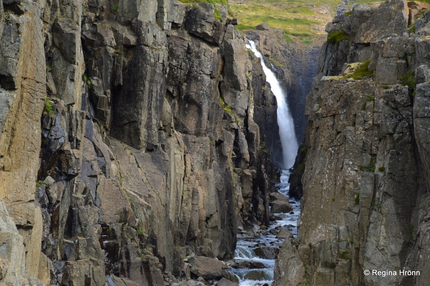 Goðafoss waterfall in Bjarnarfjörður Westfjords