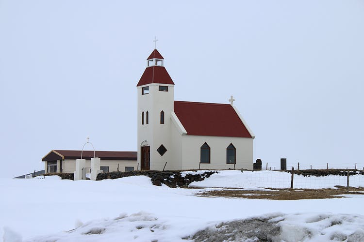 A lonely church in East Iceland.