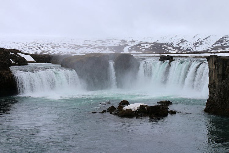 One of northern Iceland's most beautiful waterfalls, Goðafoss.