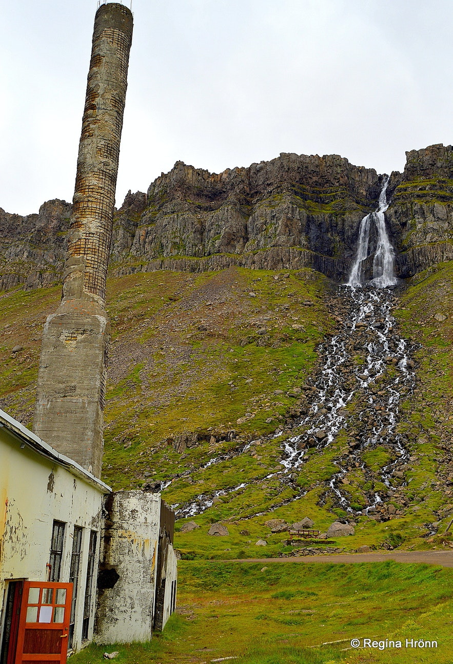 Djúpavík at Strandir - Djúpavíkurfoss waterfall