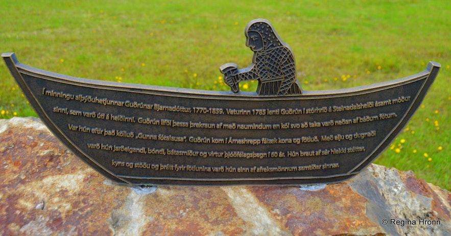Trékyllisvík at Strandir - memorial for Gunna fótalausa