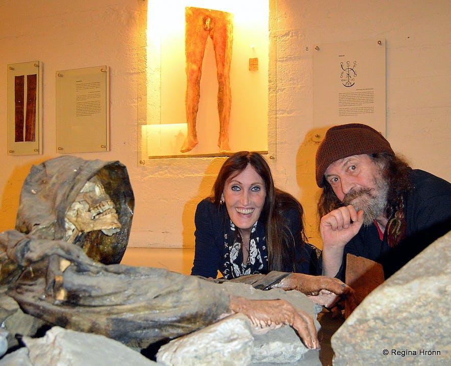 Regína with Sigurður Atlason at the Museum of Witchcraft