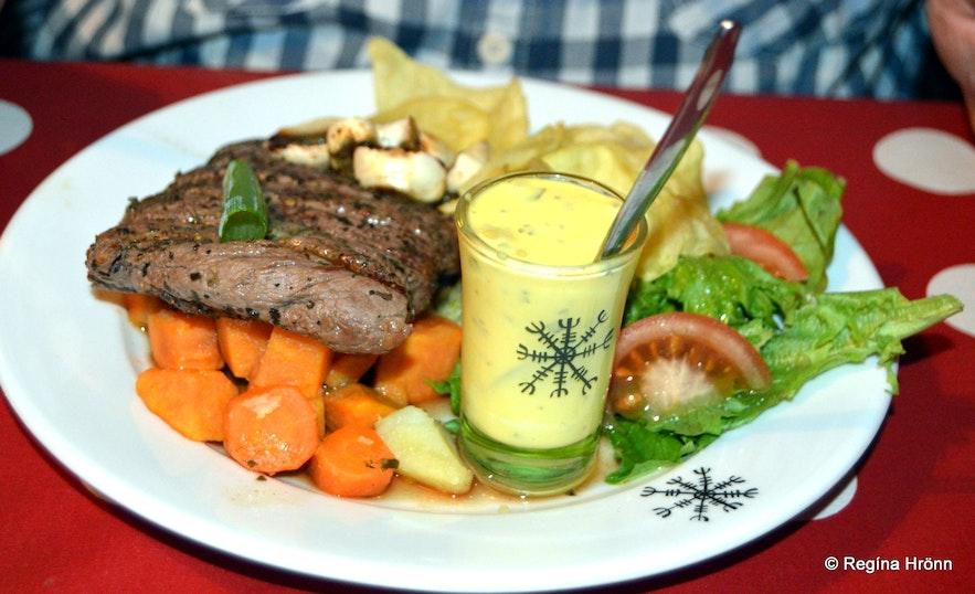 Food at the Restaurant Galdur in Hólmavík