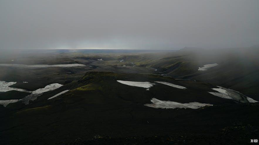 Fimmvörðuháls en Islande