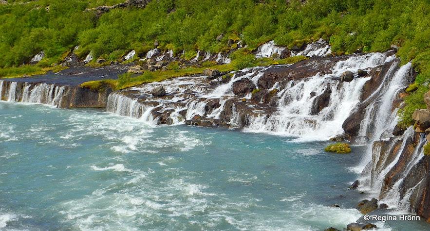 Hraunfossar West-Iceland