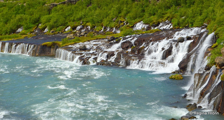 Hraunfossar waterfalls West-Iceland