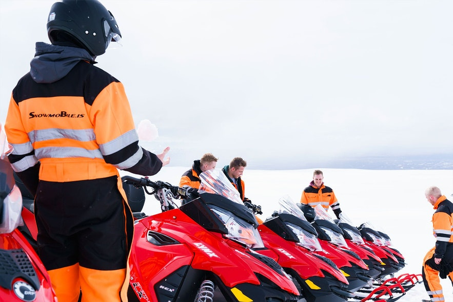 Snowmobiling is one of adventurous activities in Iceland.