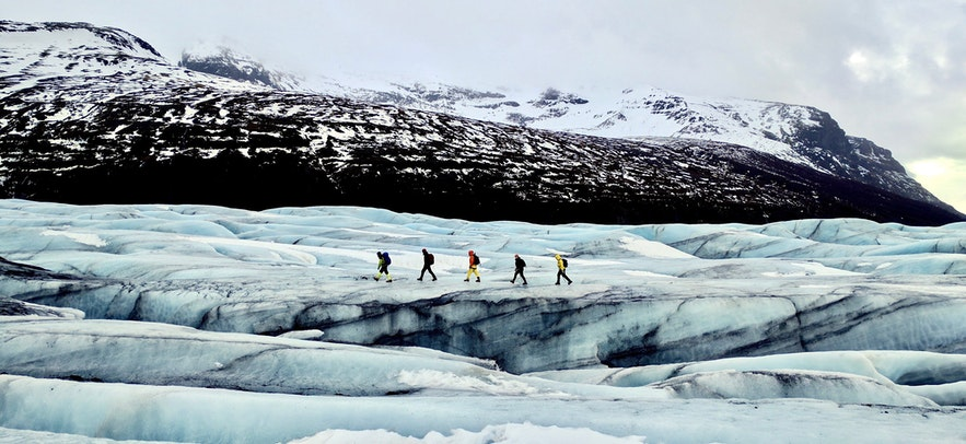 There are a number of different type glacier tours available, from Glacier Hiking to Snowmobiling.