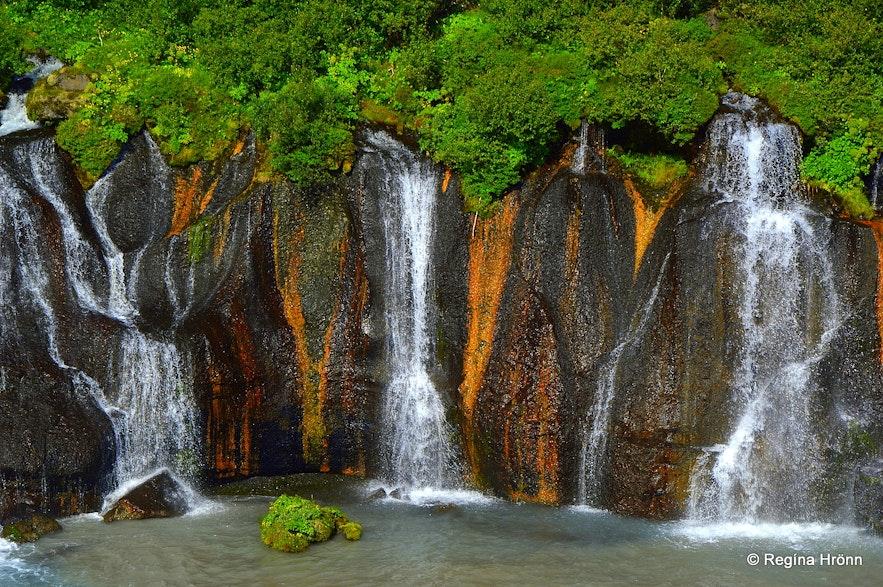 Hraunfossar waterfalls West Iceland
