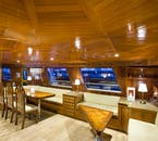 Another shot of inside the Amelia Rose yacht.