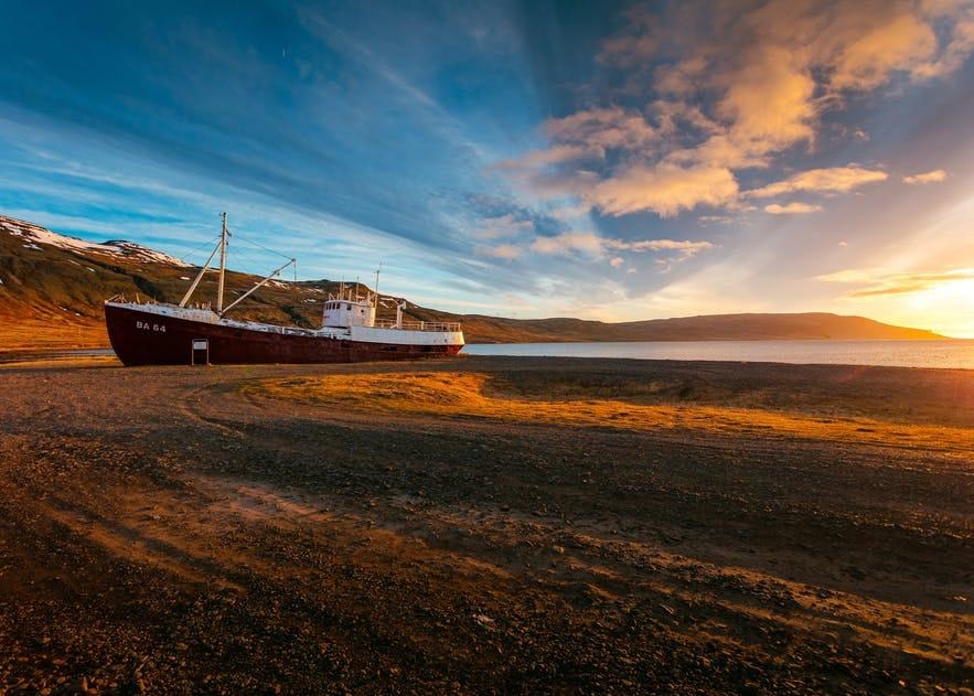 冰島西部峽灣秋季