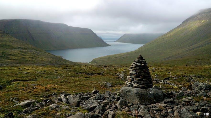 Un des paysages de la réserve d'Hornstrandir