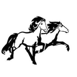 Langhús horse tours logo