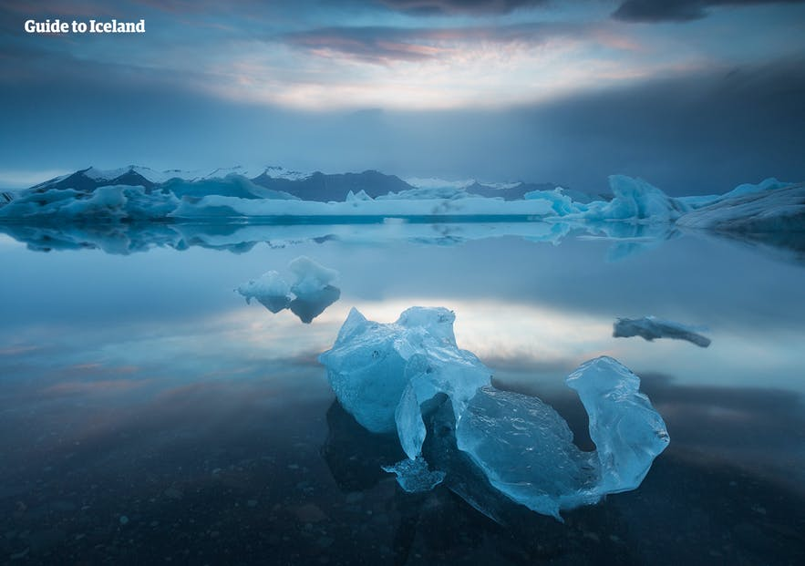 冰島夏天的傑古沙龍冰河湖