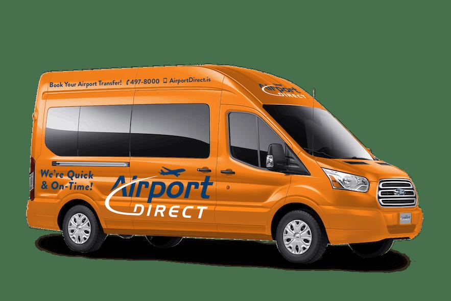 乗り換えがないAirport Direct社のシャトルバス