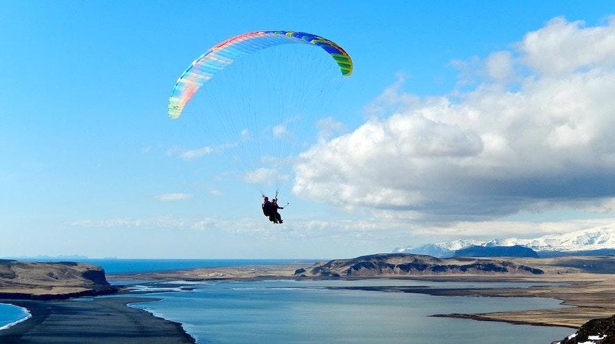 冰島滑翔傘 Paragliding