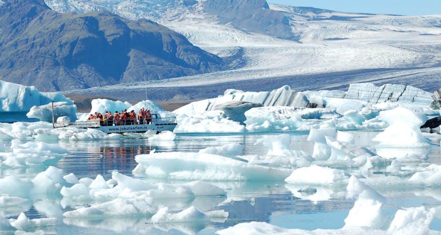 冰島傑古沙龍冰河湖游船