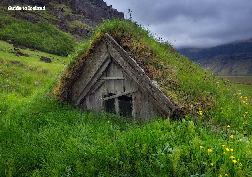 冰島古代傳統房子