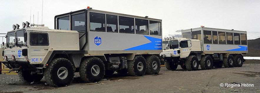 8-wheelmonster glacier truck, a former NATO missile-launcher truck! to Langjökull